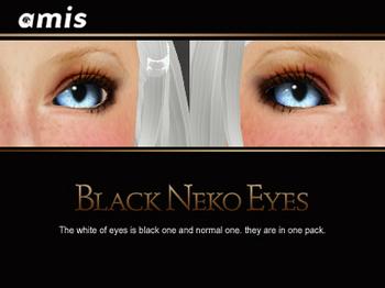 neko eyes - Black neko eyes